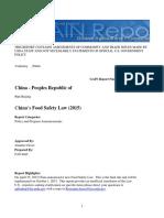 Ley de Inocuidad Alimentaria 2015