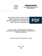2010_Villafranca_Relación entre clima y compromiso institucional en docentes de las instituciones de educación inicial de la Red N° 08 de la Re