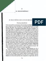 CESERANI, R.,El texto poético, en Introducción a los estudios literarios Barcelona- Crítica, 2004, pp. 85-92