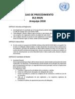 Reglas de Procedimiento Dlsmun 2018
