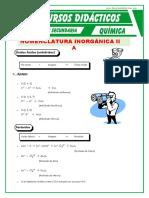 Clasificacon de La Funcion Oxidos Para Tercero de Secundaria