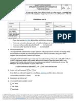 ConversaSpain Application Form 2019