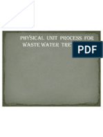 Physical Unit Process For waste water treatment
