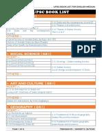 UPSC Book List for English Medium by SANKETKUMAR SUTHAR