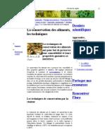 La Conservation Des Aliments, Les Techni - A. H. Cain