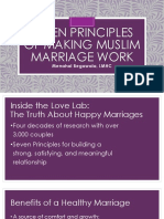 Golden principles of making muslim marriage work