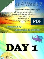 English 5 Q4 Week 7 D1-5]