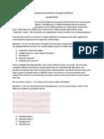 European Board Examination in Emergency Medicine Example Mcqs