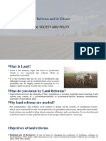 Land Reforms and Its Effects - RSP