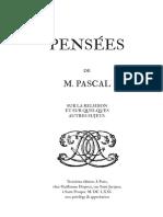 Pascal Pensees 1671 Ancien