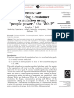 """COMMENTARY Achieving a customer orientation using """"people-power,"""" the """"5th P"""""""