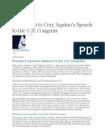 Reaction Paper for Cory Aquino's Speech