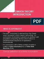 Automata Theory Introduction