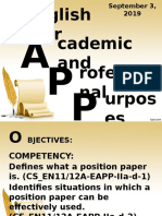 5. Writing the Position Paper