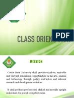 Class Orientation
