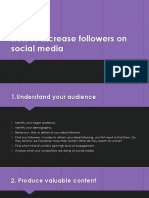 How to Increase Followers on Social Media