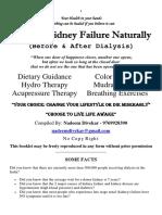 Healing Kidney Failure Naturally