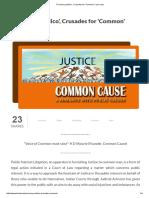 'Pro Bono Publico', Crusades for 'Common' _ Live Law