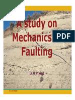 A Study on Mechanics of Faulting
