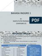 Reported Speech, Passive Voice, And Tenses