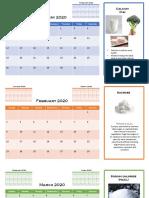Science 9 - Chemical Calendar