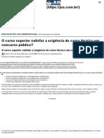 Curso Superior Satisfaz Exigência de Curso Técnico Em Concurso Público_ - Jus.com.Br _ Jus Navigandi
