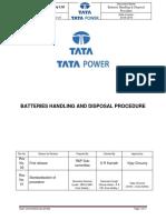 Batteries Handling Disposal Procedure