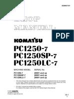 Shop manual Komatsu PC1250-7