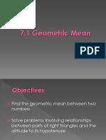 7.1 Geometric Mean.ppt