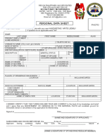 DX7RC Personal Data Sheet 2016
