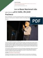A Finlandia e a Base Nacional Nao Servem Para Nada Diz Jose Pachecopdf