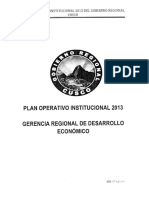 Plan Operativo Institucional Cusco 2013