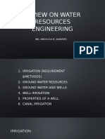 Review on Water Resource Engineering