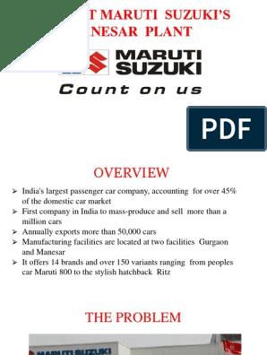 Ppt on Maruti Suzuki Crisi   Economies   Business