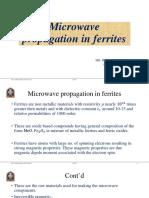 microwave propagation in ferrites