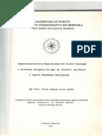 TESIS MAGISTER - Aspectos Taxonomicos, Fases de Desarrollo in Vitro y Fenología y Carateres Reologicos Del Agar de Gelidium Serratum