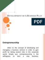 Development of a Business Plan