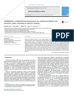 Multiphysics computational framework for cylindrical lithium-ion batteries under mechanical abusive loading