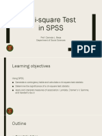 Chi-square test in SPSS