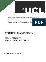 MSc Student Handbook