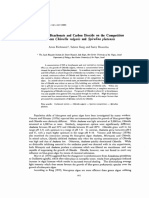 Effects of Bicarbonate and Carbon-dioxide on the Competition-between Chlorella and Spirulina