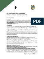 World Senior Chess Championship 2019 Regulations
