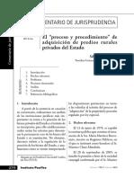 """Silvia Morales Silva, El """"proceso y procedimiento"""" de adquisición de predios rurales privados del Estado"""