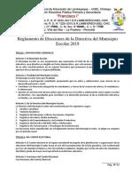 Reglamento electoral para elegir al Municipio Escolar