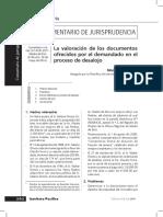 Silvia Morales Silva, La valoración de Los documentos ofrecidos por el demandado en el proceso de desalojo