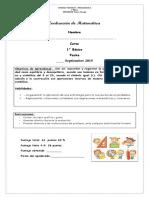 Evaluación de Matemática Igualdad