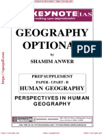 Human Geography OPTIONAL NOTES