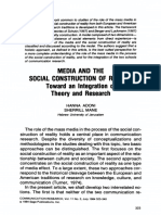 Adoni and Mane 1984 Media and the Social Construction of Reality - Toward an Integration of Theory and Research