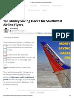 16+ Money Saving Hacks for Southwest Airline Flyers