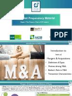 Summer Preparatory Material_M&a Basics